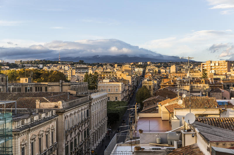 Aerial view of Catania, Italy royalty free stock photo