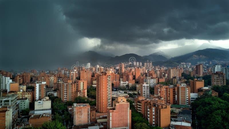 Aerial view of Christ the Redeemer and Rio de Janeiro city royalty free stock photos