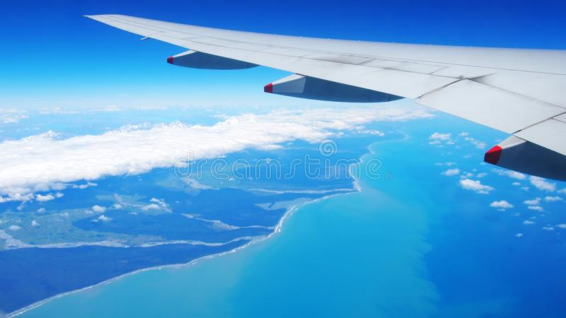 Aerial View, Christchurch, New Zealand. Aerial view above Christchurch of beautiful New Zealand landscape royalty free stock images