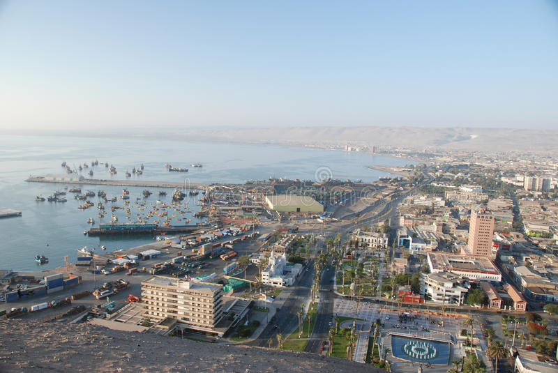 Download Aerial View Of The City Of Arica,Chile Editorial Photo - Image: 15248916