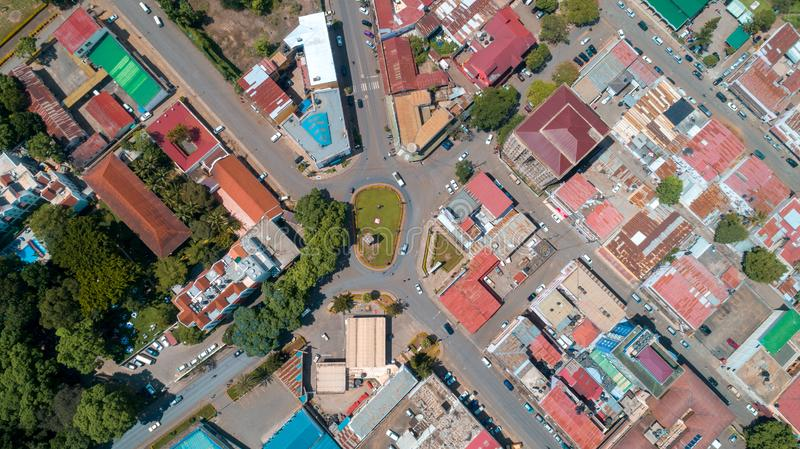 Aerial view of the city of Arusha, Tanzania. Aerial view of the city of Arusha royalty free stock image