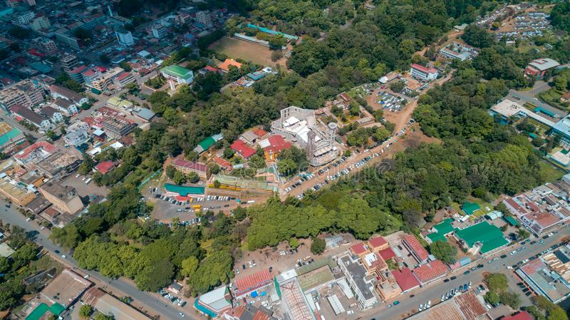Aerial view of the city of Arusha, Tanzania. Aerial view of the city of Arusha stock photography