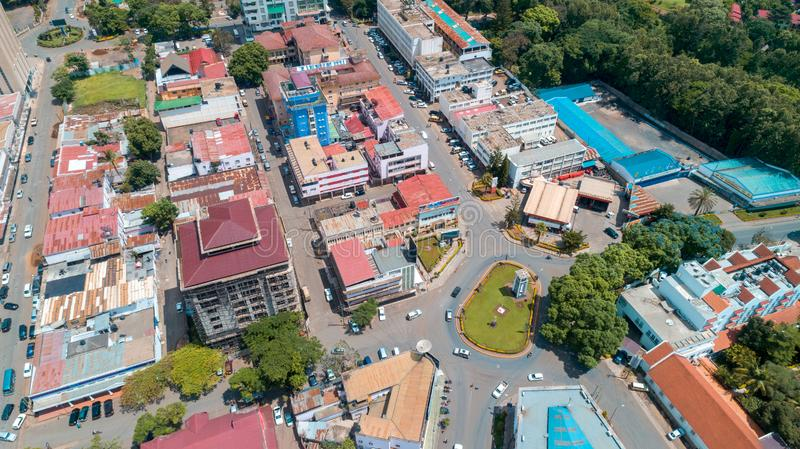 Aerial view of the city of Arusha, Tanzania. Aerial view of the city of Arusha stock images