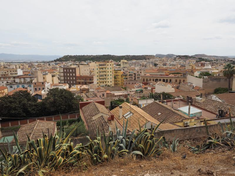 Aerial view of Cagliari. Aerial view of the city of Cagliari, Italy royalty free stock photography