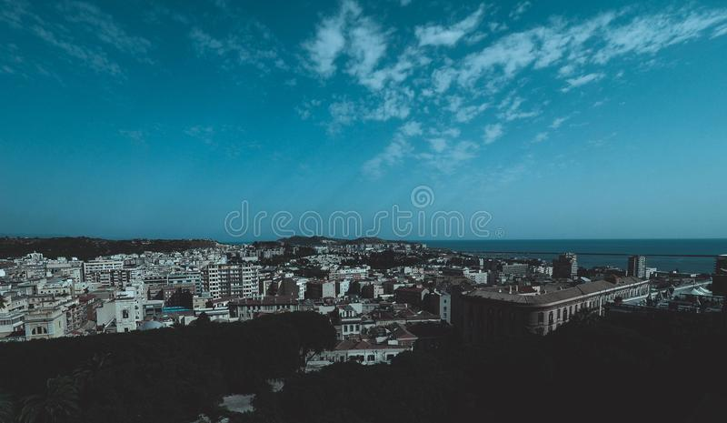 Aerial view of Cagliari. Aerial view of the city of Cagliari, Italy royalty free stock image