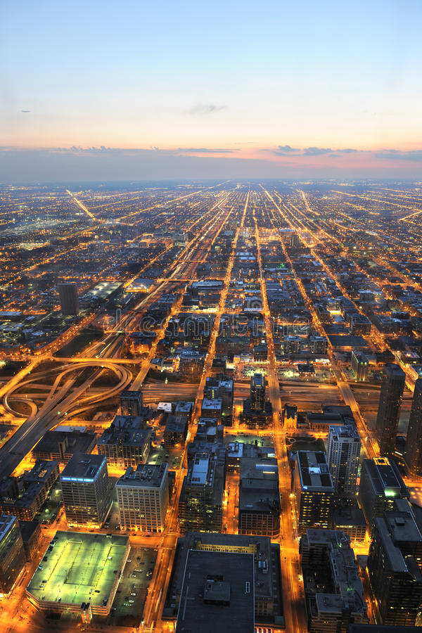 Download Aerial View Of City Of Chicago Stock Image - Image: 27448789