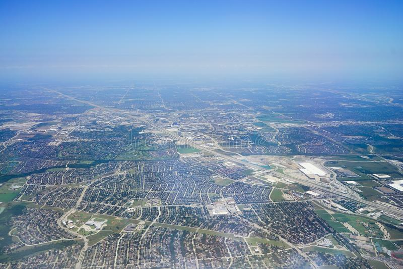Aerial view of City of Dallas. Texas royalty free stock images