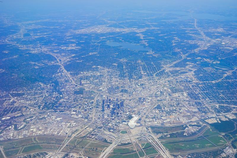 Aerial view of City of Dallas. Texas royalty free stock photo