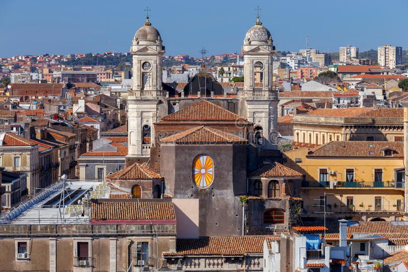 Catania Church of St. Agatha royalty free stock images