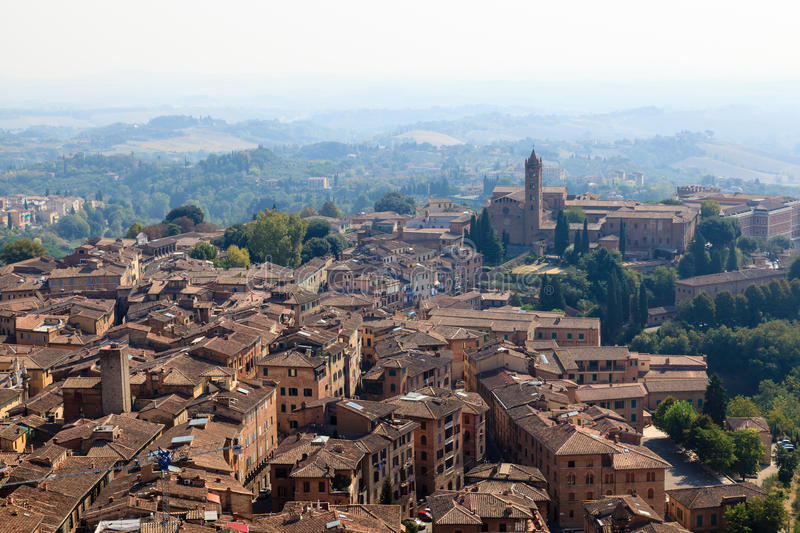 Download Aerial View On The City Of Siena And Nearby Hills Stock Photo - Image: 26733444