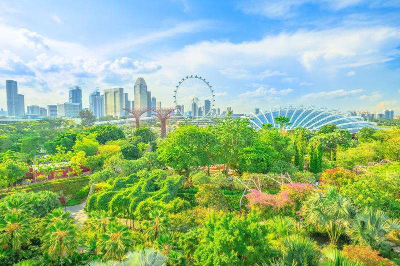 Gardens by the bay Singapore stock images