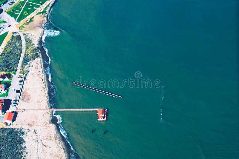 Aerial view of coastline royalty free stock image