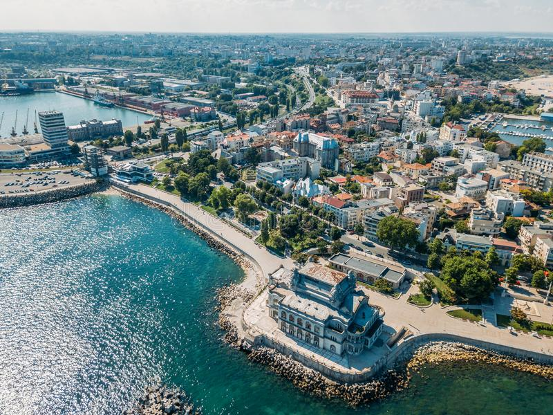 Aerial View Of Constanta City Skyline Of Romania. Aerial View Of Constanta City Skyline In Romania royalty free stock image