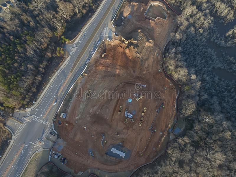 Aerial view of new condo construction royalty free stock image