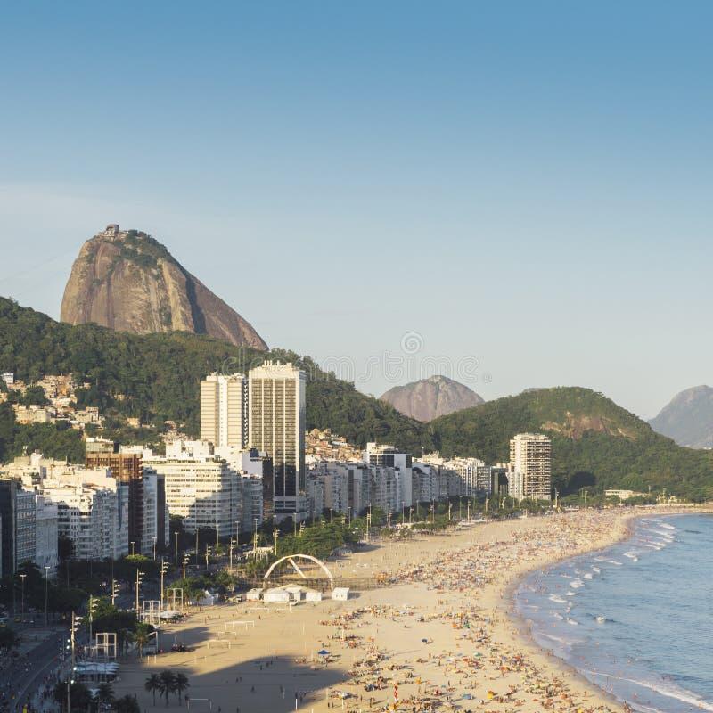 Aerial view of Copacabana, Rio de Janeiro, Brazil stock image