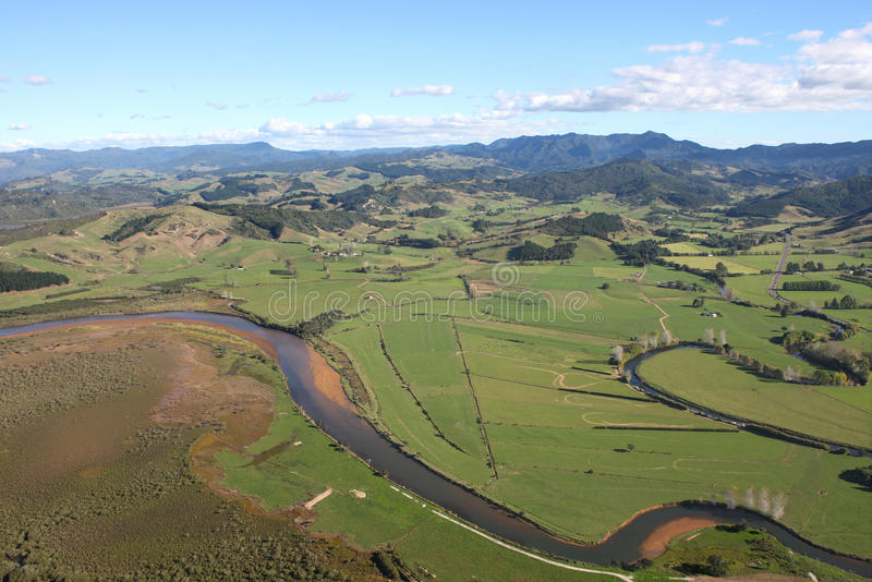 Aerial View Of The Coromandel Peninsular Royalty Free Stock Photography