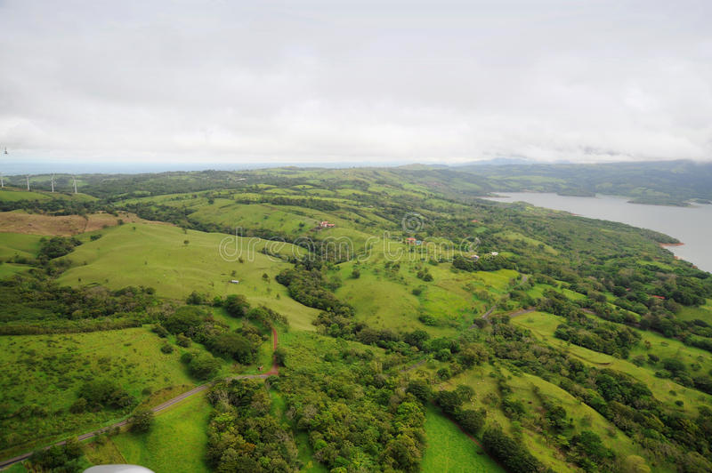 Aerial view in Costa Rica stock images