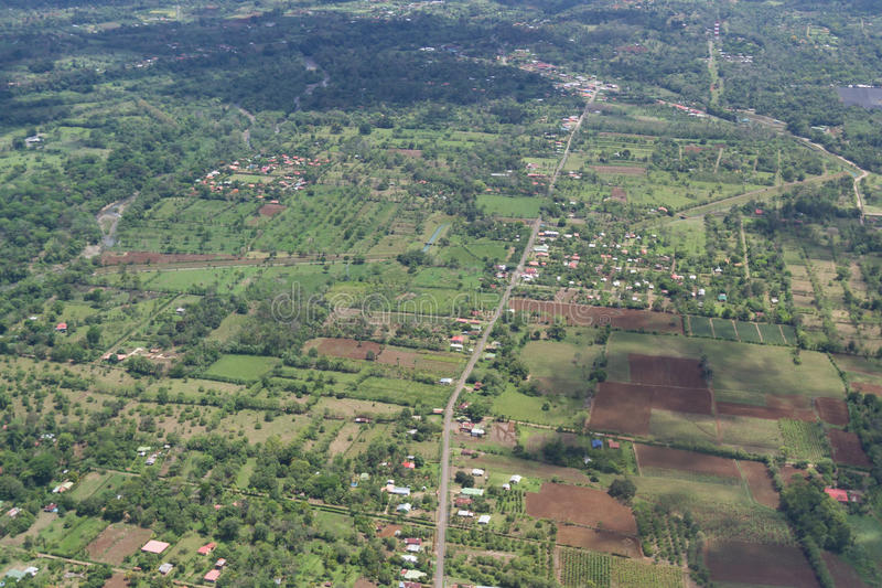 Aerial view of Costa Rica stock photos