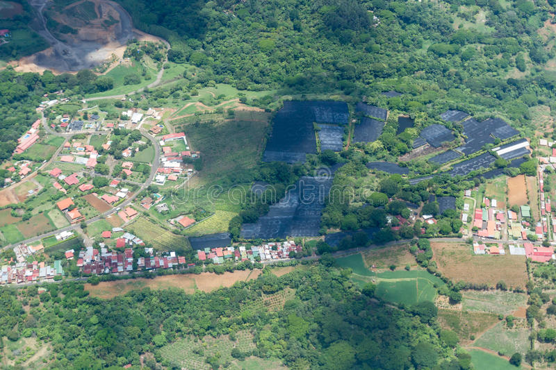 Aerial view of Costa Rica royalty free stock images