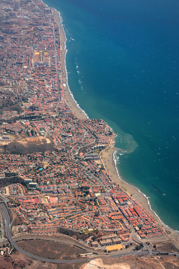 Aerial View of the Costaline of Spain stock images