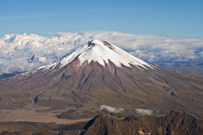 Aerial view of Cotopaxi Volcano, Ecuador royalty free stock image