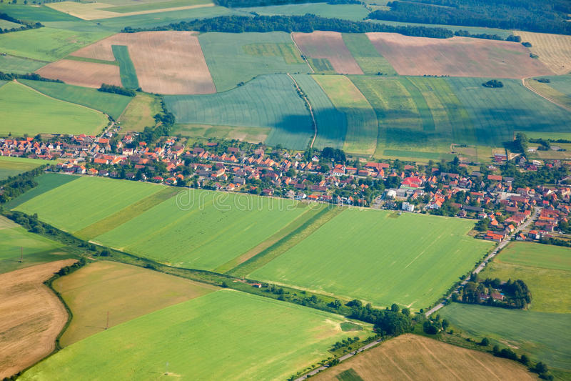 Aerial View Of Countryside Stock Images