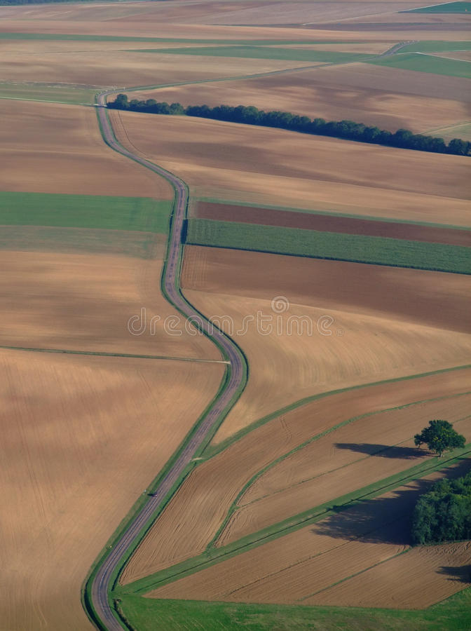 Download Aerial View Of Countryside Road Stock Photo - Image: 16387964