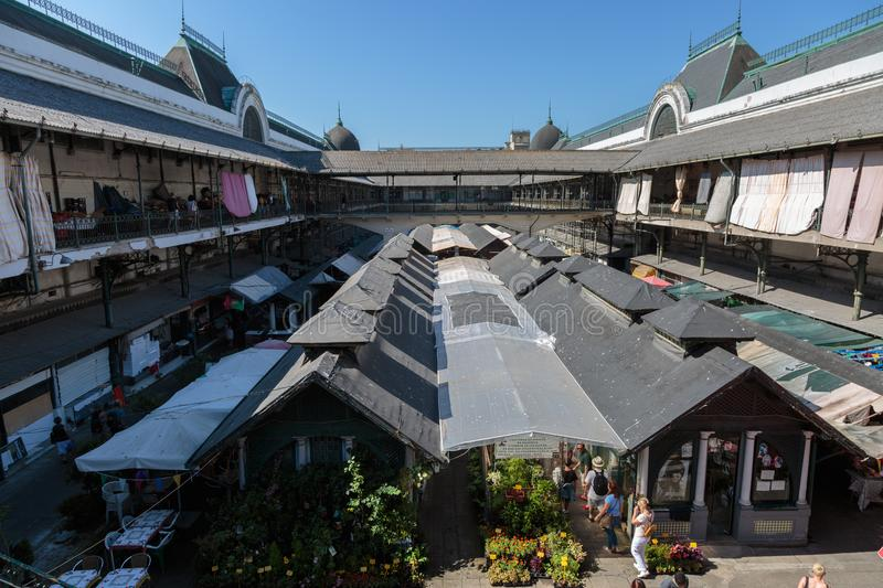 Aerial View of Antique Bolhao Market in Porto, Portugal stock photos