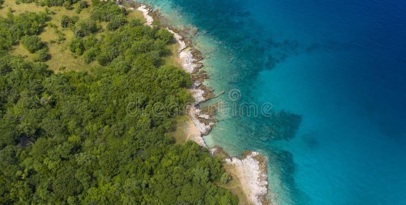 Croatia coastline, adriatic sea stock photography