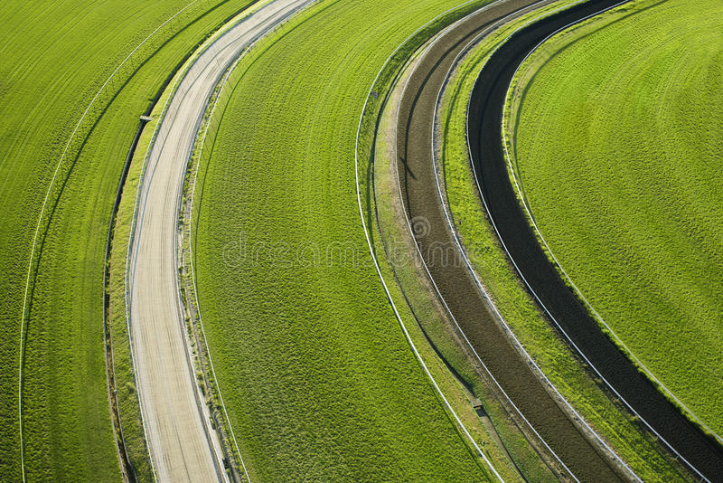 Aerial View Of Cropland Royalty Free Stock Images