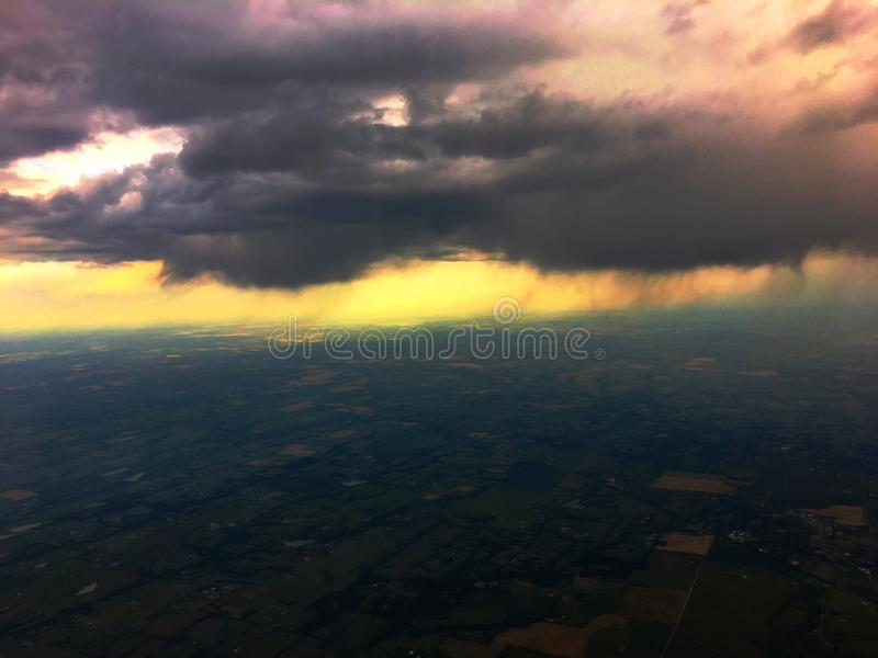 Aerial Amarillo. Aerial View of Crops and farmland in the Texas Panhandle of Amarillo stock photos