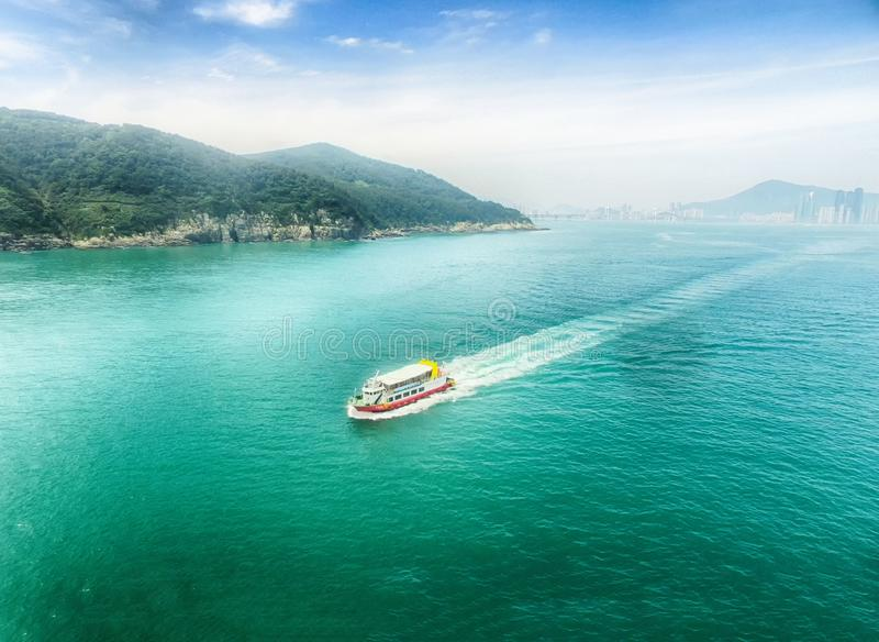 Aerial View of Cruise Ship at igidae Park, Busan, South Korea. Asia stock image