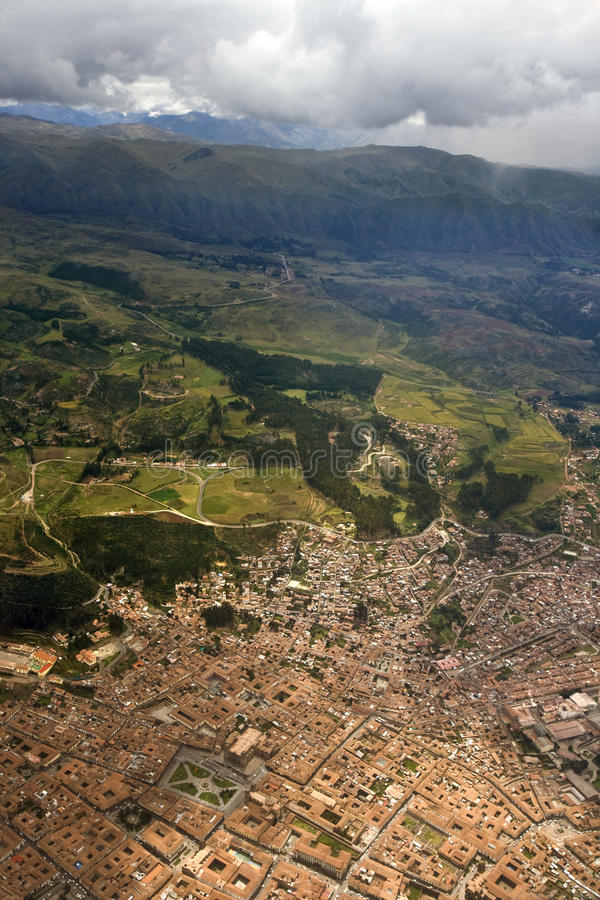 Aerial view - Cuzco - Peru stock photography