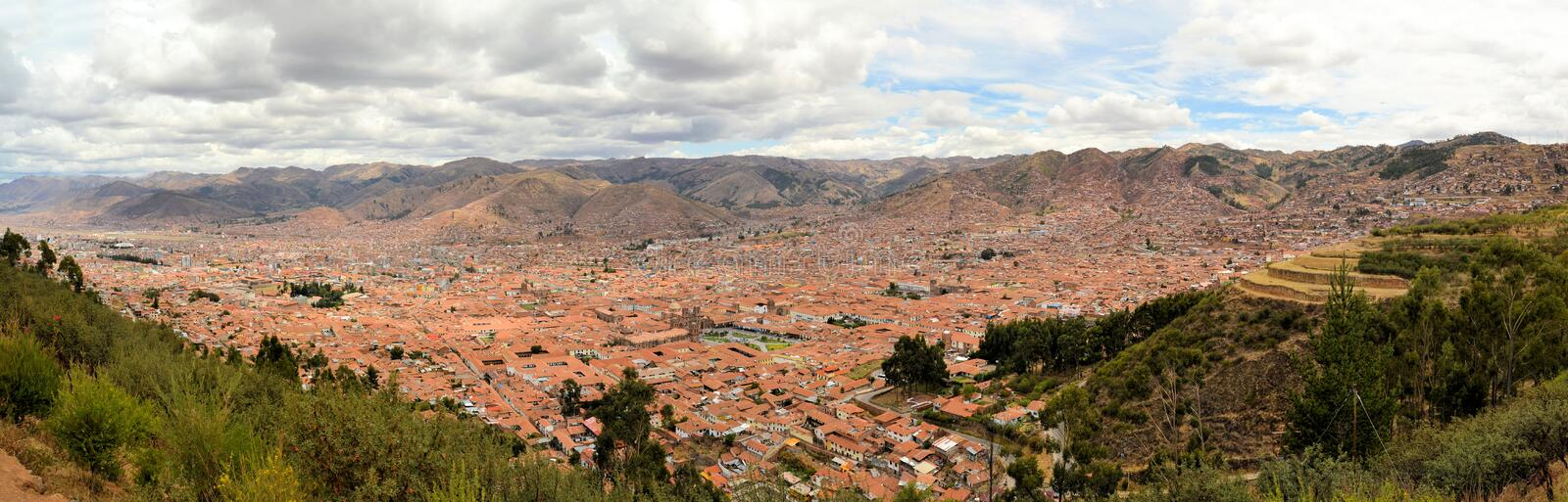 Aerial view of Cuzco, Peru, South America royalty free stock photos