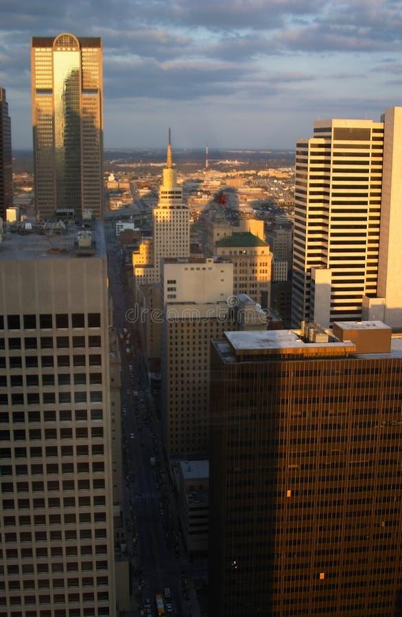 Aerial view of Dallas stock photo