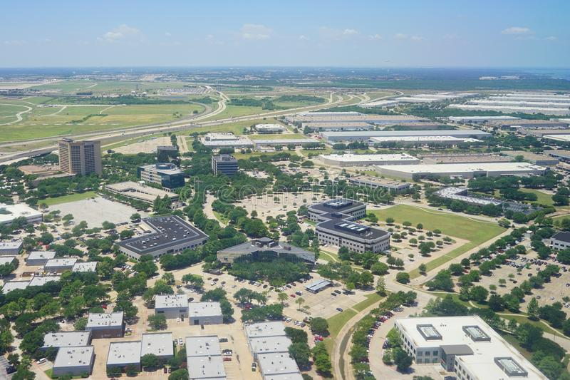 Aerial view of Dallas. Aerial view of city of Dallas, Texas stock photography