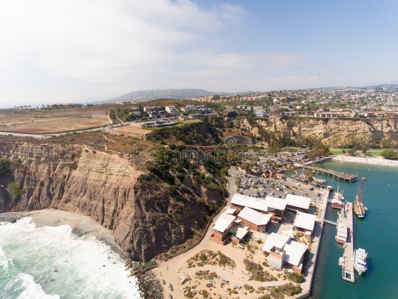 Aerial view of Dana Point, California stock image