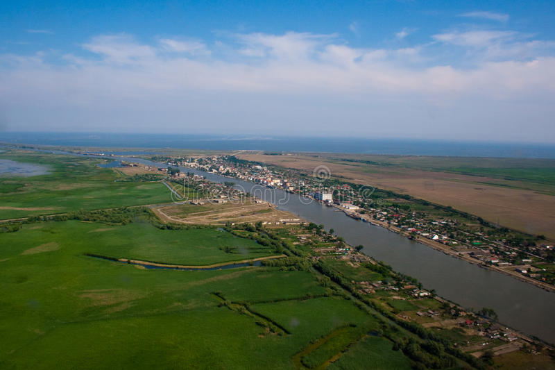 Aerial View of Danube Delta stock image