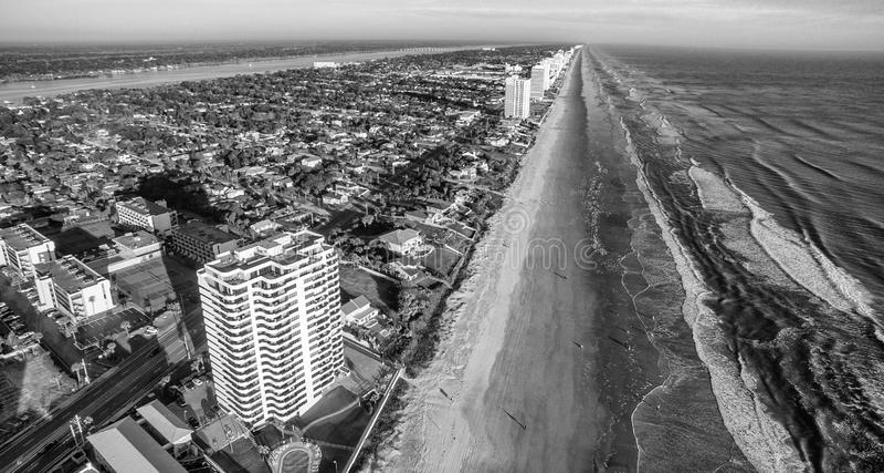 Aerial view of Daytona Beach, Florida royalty free stock images