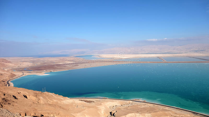 Download Aerial View Of Dead Sea Coast. Stock Image - Image: 83705129