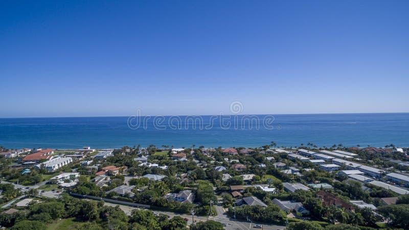 Aerial view Delray Beach, Florida. Aerial view from Delray Beach, Florida royalty free stock photo