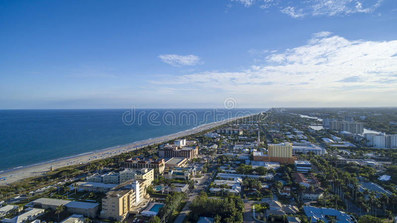 Aerial view Delray Beach, Florida. Aerial view from Delray Beach, Florida stock photography