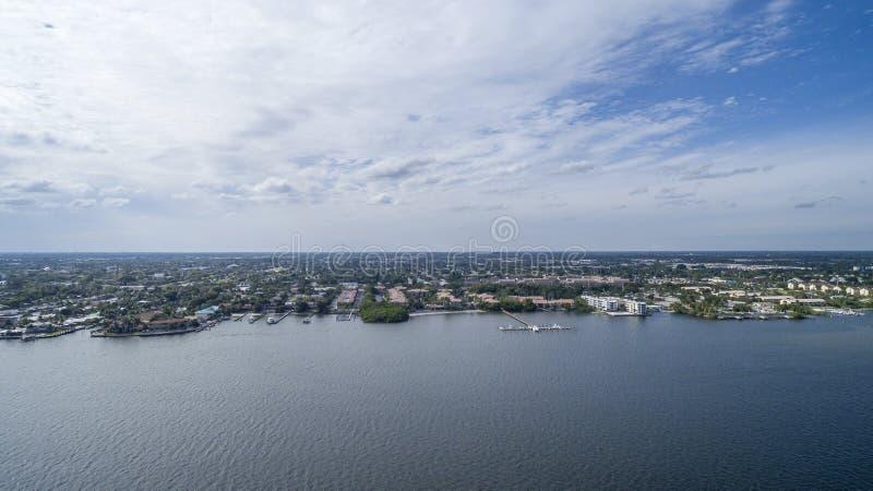 Aerial view Delray Beach, Florida. Aerial view from Delray Beach, Florida royalty free stock images
