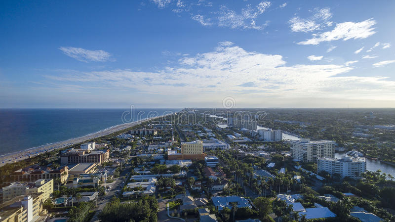 Aerial view Delray Beach, Florida. Aerial view from Delray Beach, Florida royalty free stock photography