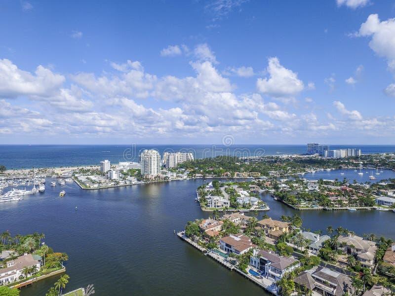 Aerial view Delray Beach, Florida. Aerial view from Delray Beach, Florida royalty free stock image