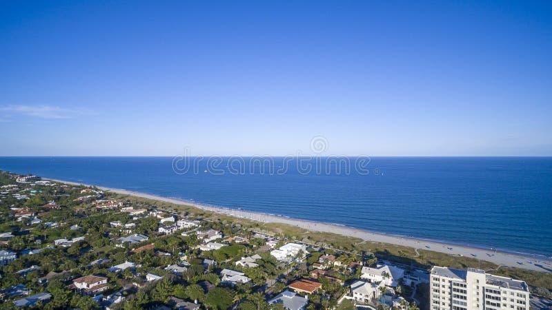 Aerial view Delray Beach, Florida. Aerial view from Delray Beach, Florida royalty free stock photos