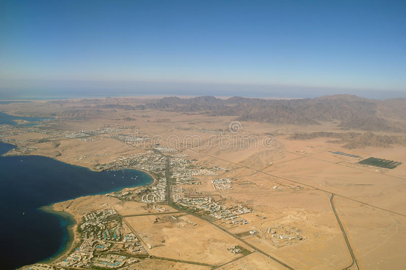 Download Aerial view desert and sea stock image. Image of aerial - 24182693