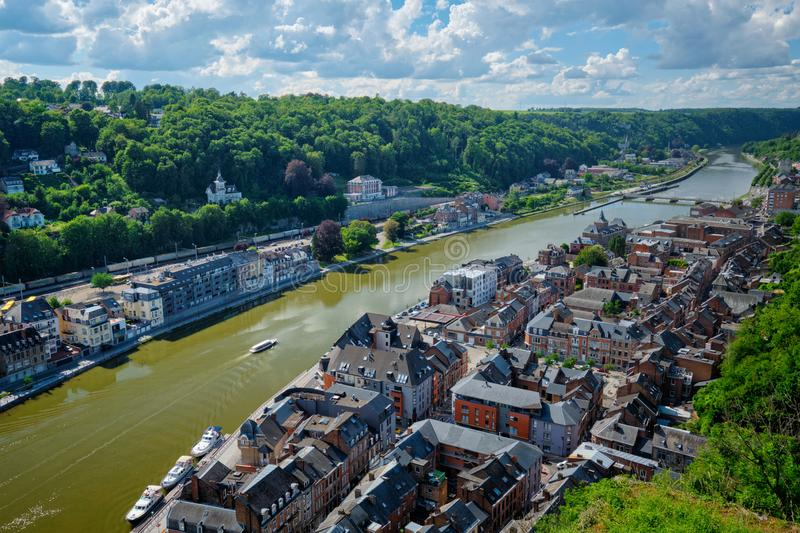 Aerial view of Dinant town, Belgium royalty free stock photo