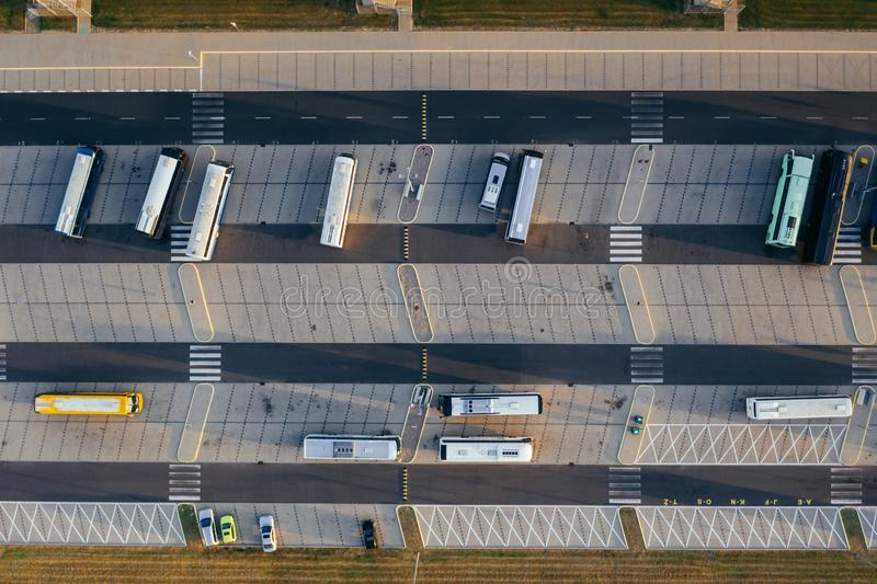 Aerial view of the distribution center. Aerial view of the distribution center, drone photography of the industrial logistic zone stock photography