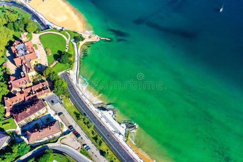 Aerial view of  Donostia San Sebastian Basque country stock image